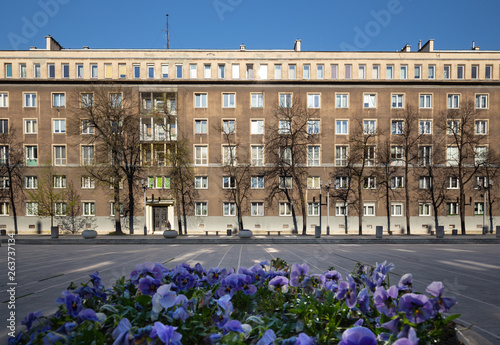 Krakow, The old communist architecture of working-class district of the city of Nowa Huta