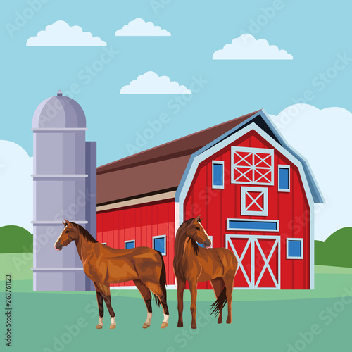 barn and horses © Jemastock