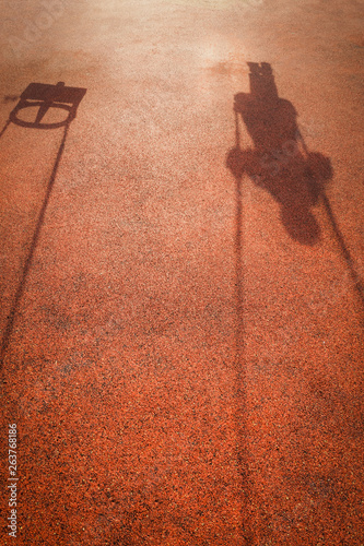 canvas print picture shadow of a swing