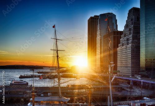 Sunset in Manhattan.