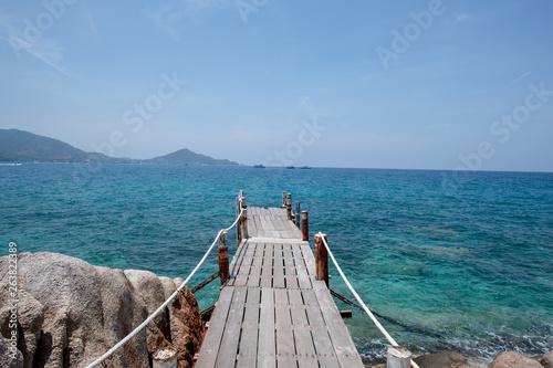 View of Nang Yuan island of Koh Tao island Thailand © Tanaban