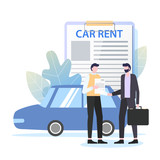 Businessman Rent Car Dealer Business Travel