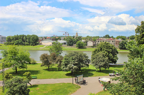 KRAKOW, POLAND - JUNE 19, 2017: View from the Royal Castle Hill