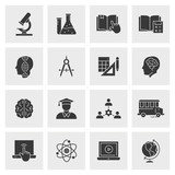 Education icon set. Illustrations isolated for graphic and web design.