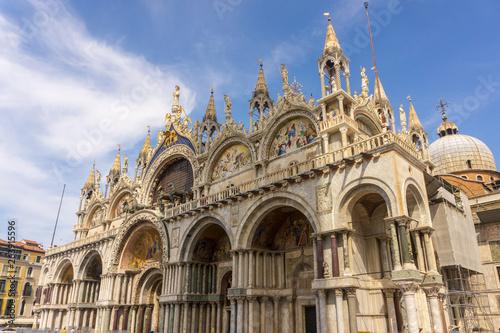 Venice, Italy - August/ 27/ 2018 -  Basilica of Saint Mark