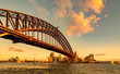 Sydney Harbour Bridge at golden sunset