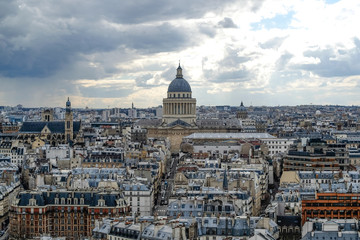 View from Notre Dame to Pantheon of Paris