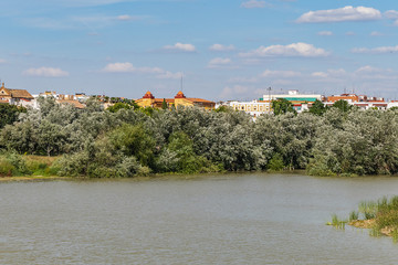 Picturesque Embankment of the Guadalquivir River in Cordoba. Cordoba, Andalusia, Spain.