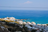 Beautiful view of Apollonia village on Naxos island in Greece