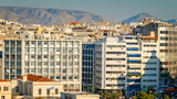 Apartment buildings in downtown Athens, Greece - city skyline