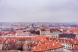 Panoramic view of old city in Prague
