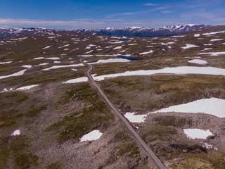 Mountains landscape. Norwegian scenic route Aurlandsfjellet