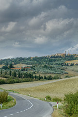 Panoramic views of Pienza, Tuscany, Italy © FJ