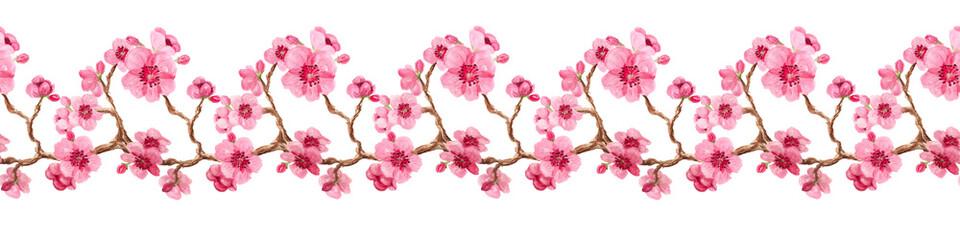 Seamless pattern with sakura © shoshina