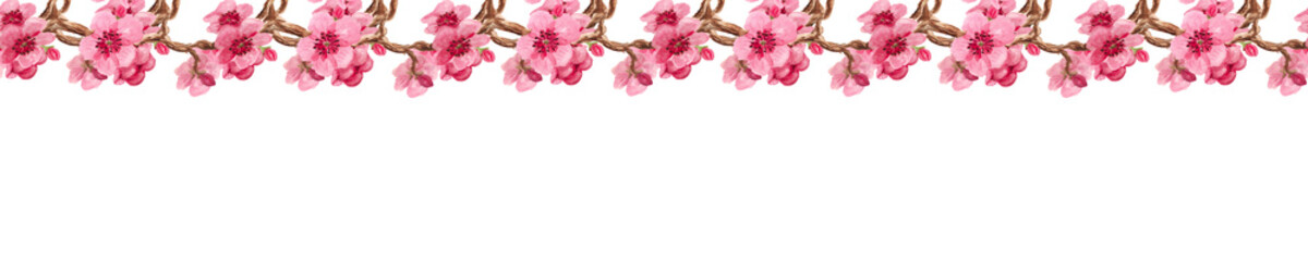 Seamless pattern with sakura © shoshina