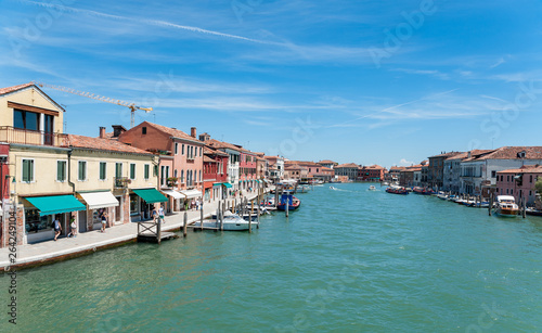 colored houses banks of canals italy venice