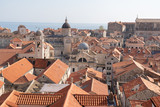 View of the old town from the city wall of Dubrovnik Croatia