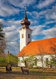 Exterior of the medieval church of Szentgyörgyvölgy