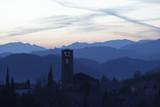 Bassano del Grappa Ezzelino castle by night