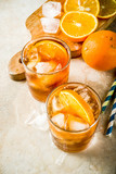 Iced coffee with orange