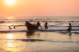 Fishermen with catch in Goa
