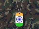 India Flag on Dog Tag