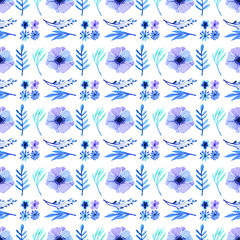 flower pattern in the many kind of florals. Seamless vector texture.
