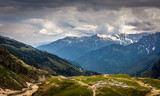 Aerial view of Mountain Village In Manali from rohtang pass, Himachal Pradesh. India