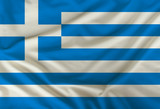color greece national flag on draped textile, background