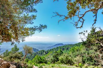 Aussicht auf halbem Wege zum Castell d'Alaró in Richtung Palma de Mallorca