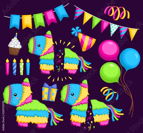 Pinata and party stuff