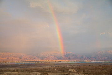 rainbow over the desert © compuinfoto
