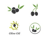 olive logo template vector