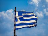Beautiful shot of the Greece flag