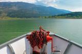 Greece, Ioannina, beautiful view of the Pamvotis lake from ferryboat