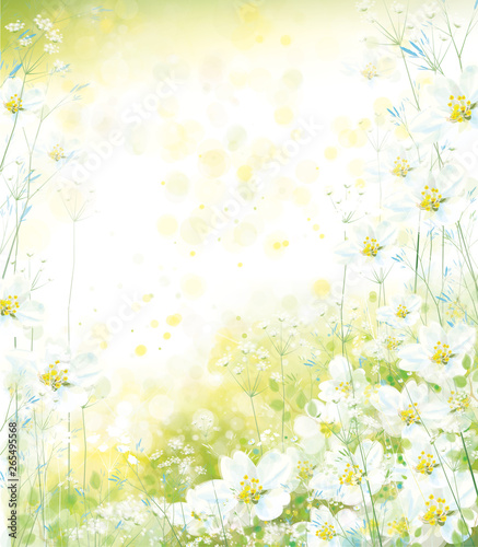 Vector floral background. Spring background. © rvika