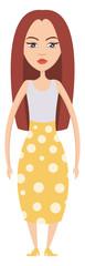 red Hair Girl illustration vector on white background © Morphart