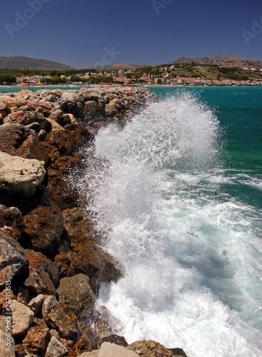 Crashing Waves, Almirida Beach, Crete, Greeke Islands
