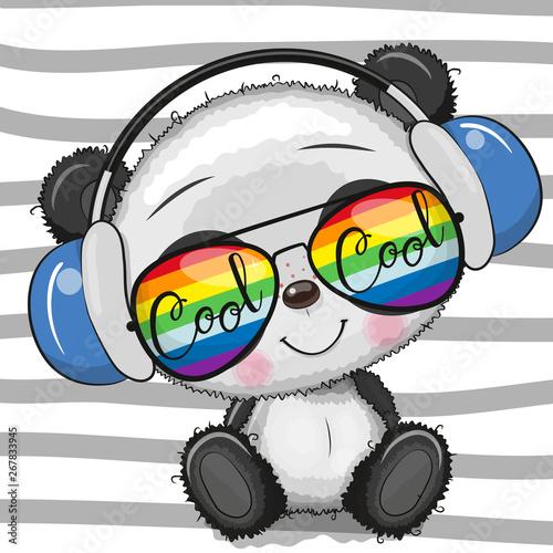e5746cf894956c Cool Cartoon Cute Panda with sun glasses   Buy Photos   AP Images ...