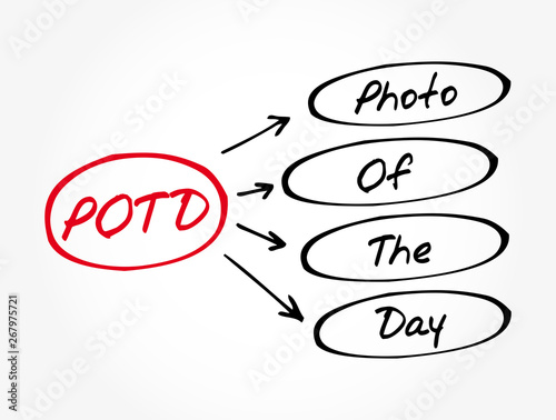 POTD - Photo Of The Day acronym, concept background