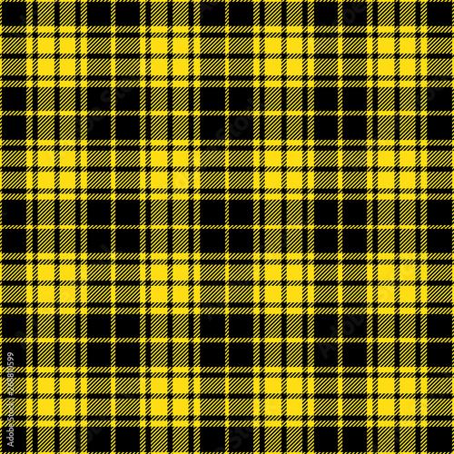 48cbf18f82 Black and Yellow Tartan Plaid pattern. Traditional Scottish check textile  backgrounds.